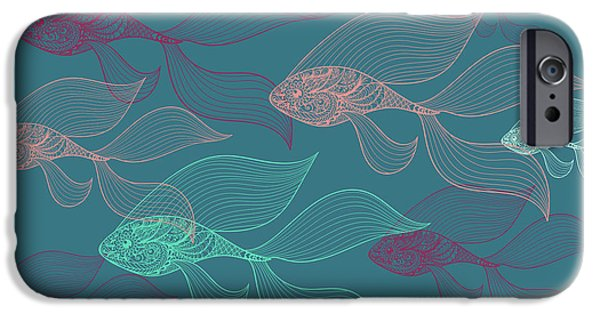 Contemporary iPhone 6s Case - Beta Fish  by Mark Ashkenazi