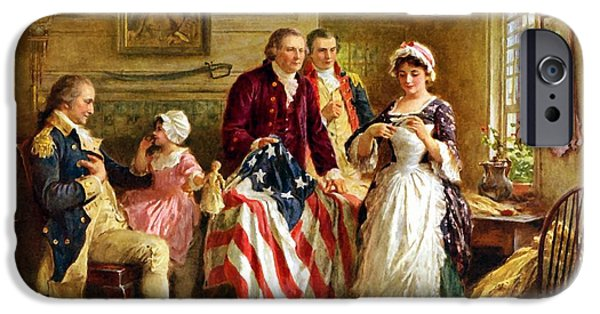 George Washington iPhone 6s Case - Betsy Ross And General George Washington by War Is Hell Store