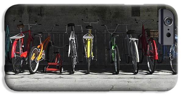 Bicycle iPhone 6s Case - Bike Rack by Cynthia Decker