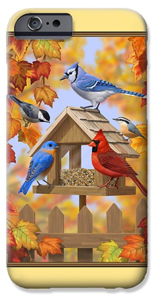 Bird Painting - Autumn Aquaintances IPhone 6s Case