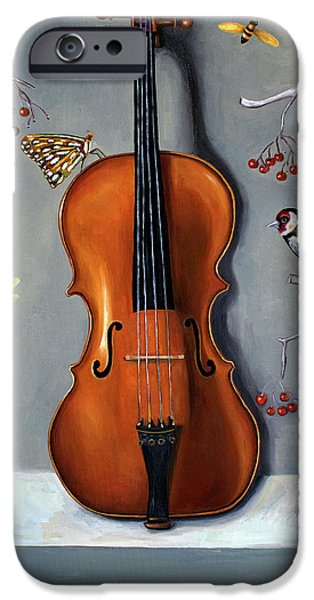 Violin iPhone 6s Case - Bird Song by Leah Saulnier The Painting Maniac
