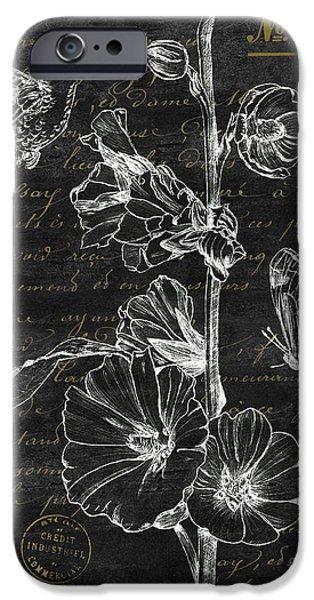 Hummingbird iPhone 6s Case - Black And Gold Hummingbirds 2 by Debbie DeWitt