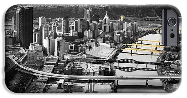 Black And Gold Pittsburgh  IPhone Case by Emmanuel Panagiotakis