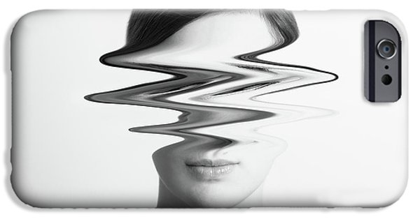 Black And White Abstract Woman Portrait Of Restlessness Concept IPhone 6s Case by Radu Bercan
