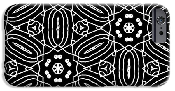 Black And White Boho Pattern 2- Art By Linda Woods IPhone 6s Case by Linda Woods