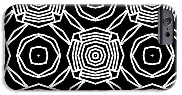 Niagra Falls iPhone 6s Case - Black And White Modern Roses- Pattern Art By Linda Woods by Linda Woods