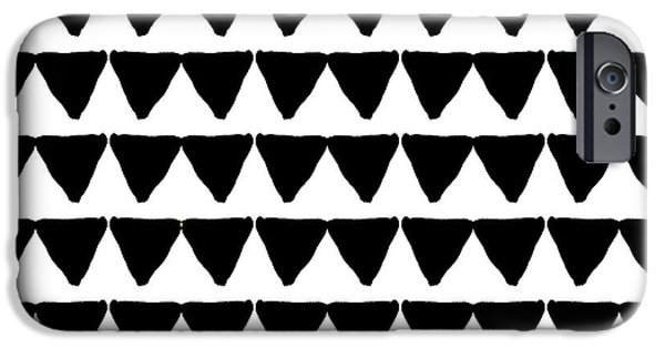 Black And White Triangles- Art By Linda Woods IPhone 6s Case by Linda Woods