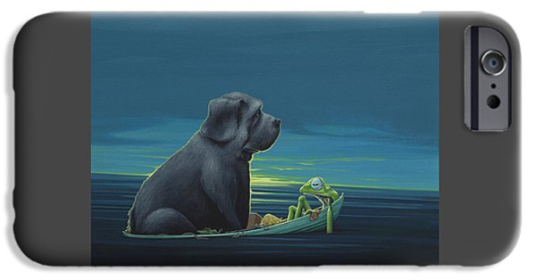 Black Dog IPhone 6s Case by Jasper Oostland