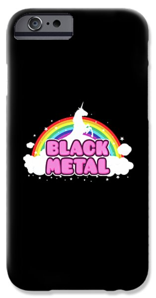 Black Metal Funny Unicorn / Rainbow Mosh Parody Design IPhone 6s Case by Philipp Rietz