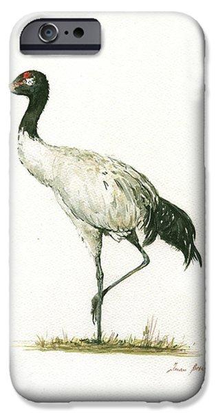 Crane iPhone 6s Case - Black Necked Crane by Juan Bosco