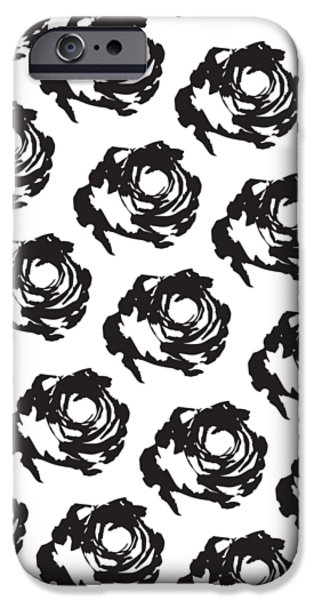Black Rose Pattern IPhone 6s Case by Cortney Herron