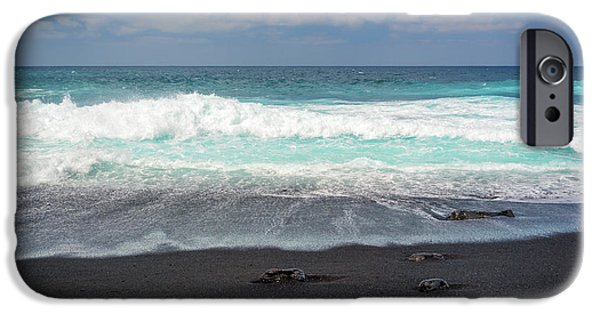 Canary iPhone 6s Case - Black Sand Beach by Delphimages Photo Creations