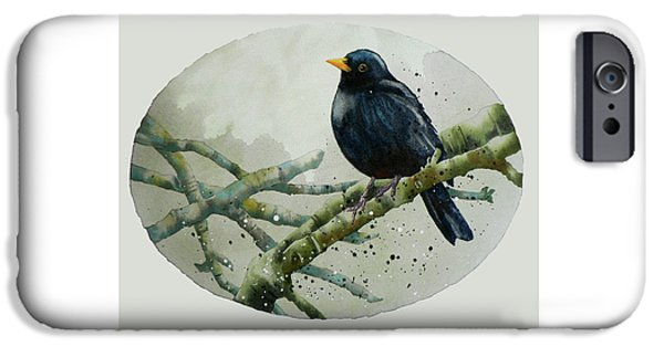 Blackbird Painting IPhone 6s Case by Alison Fennell