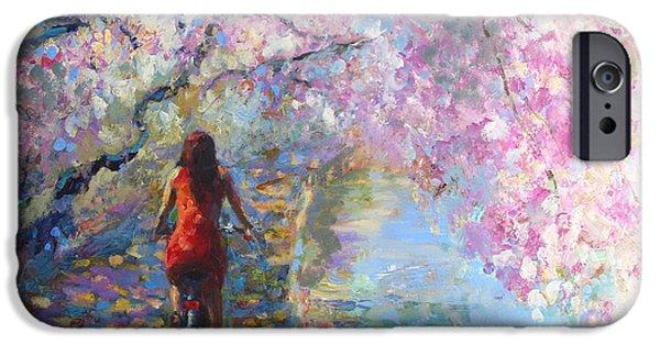 Blossom Alley Impressionistic Painting IPhone Case by Svetlana Novikova