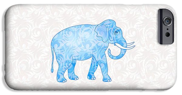 Blue Damask Elephant IPhone 6s Case by Antique Images