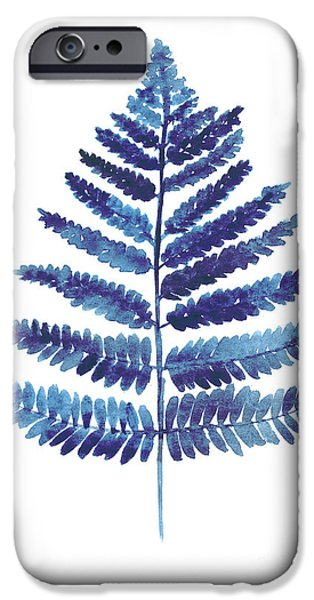 Blue Ferns Watercolor Art Print Painting IPhone 6s Case by Joanna Szmerdt