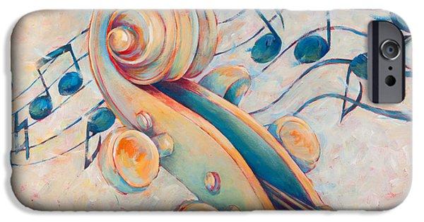 Violin iPhone 6s Case - Blue Notes by Susanne Clark