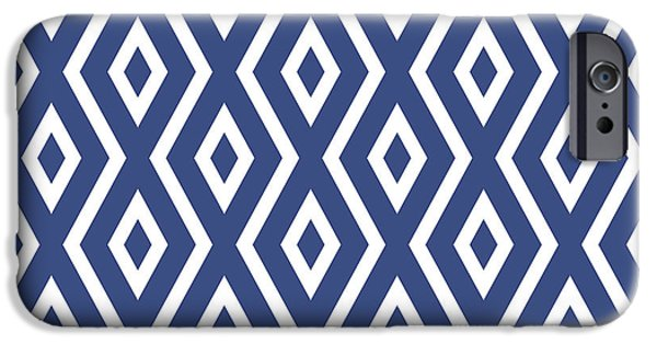 Simple iPhone 6s Case - Blue Pattern by Christina Rollo