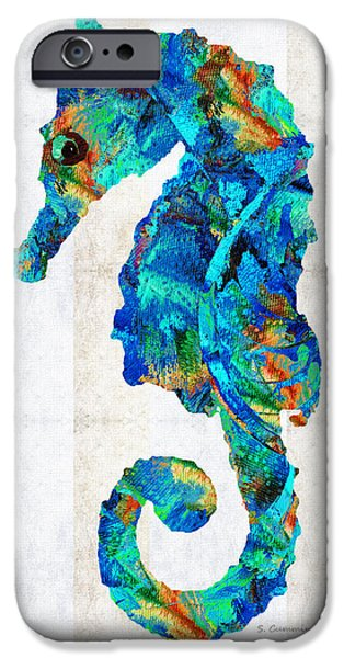Blue Seahorse Art By Sharon Cummings IPhone 6s Case by Sharon Cummings