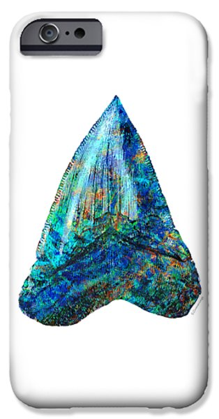 Blue Shark Tooth Art By Sharon Cummings IPhone 6s Case by Sharon Cummings