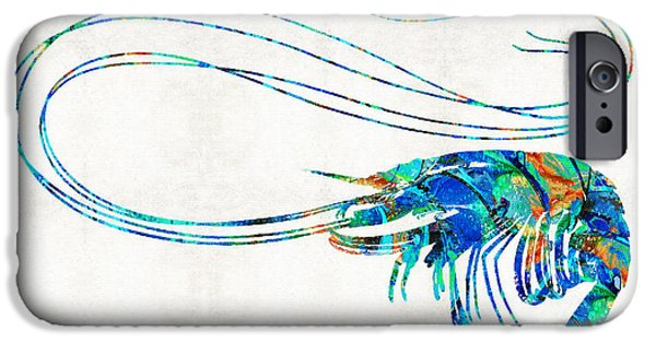 Scuba Diving iPhone 6s Case - Blue Shrimp Art By Sharon Cummings by Sharon Cummings