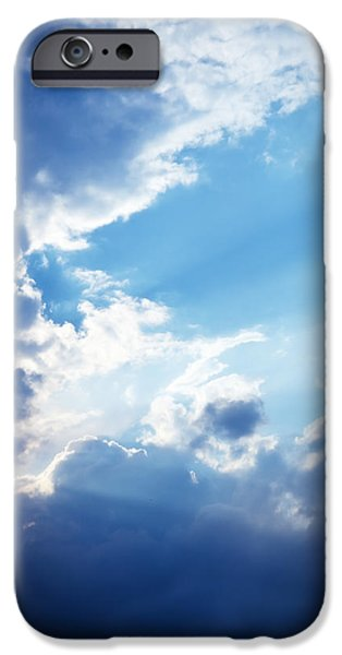 Blue Sky And Clouds With Sun Light IPhone 6s Case by Jozef Klopacka