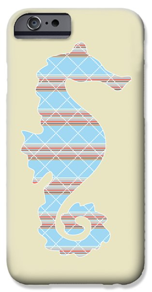 Blue Stripe Pattern Aged IPhone 6s Case by Christina Rollo