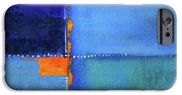 Blue Window Abstract IPhone 6s Case by Nancy Merkle