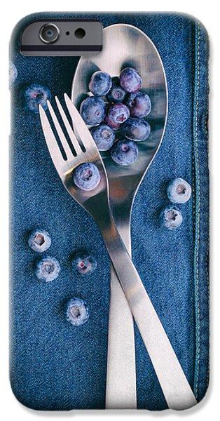 Blue Berry iPhone 6s Case - Blueberries On Denim II by Tom Mc Nemar
