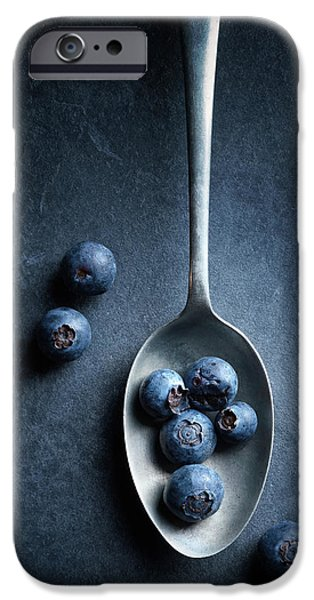 Blue Berry iPhone 6s Case - Blueberries On Spoon Still Life by Johan Swanepoel