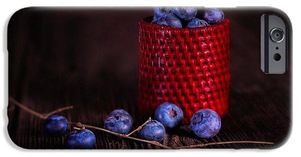 Blue Berry iPhone 6s Case - Blueberry Delight by Tom Mc Nemar