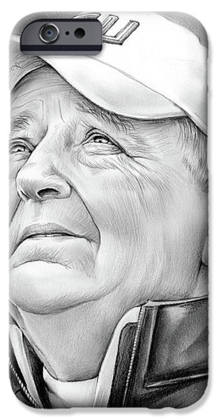 Pencil iPhone 6s Case - Bobby Bowden by Greg Joens