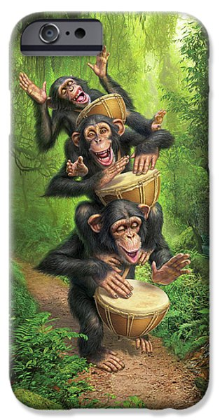 Chimpanzee iPhone 6s Case - Bongo In The Jungle by Mark Fredrickson