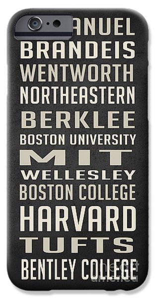 Boston Colleges Poster IPhone 6s Case by Edward Fielding