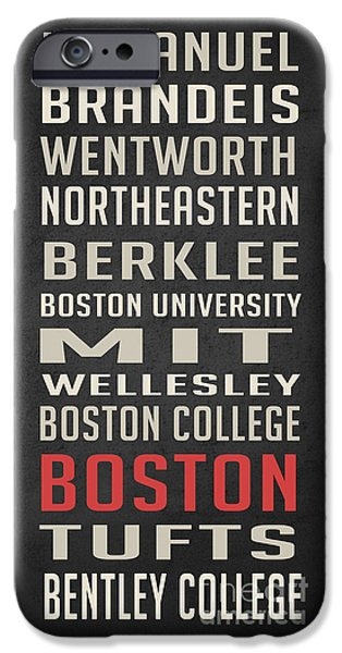 Boston Collegetown IPhone 6s Case by Edward Fielding