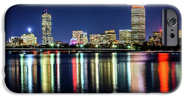 Harvard iPhone 6s Case - Boston Skyline At Night With Harvard Bridge by Paul Velgos