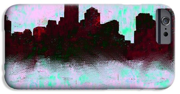 Boston Skyline Sky Blue  IPhone 6s Case by Enki Art