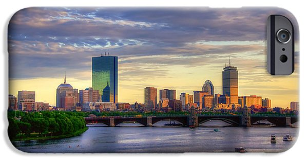 Boston Skyline Sunset Over Back Bay IPhone 6s Case by Joann Vitali