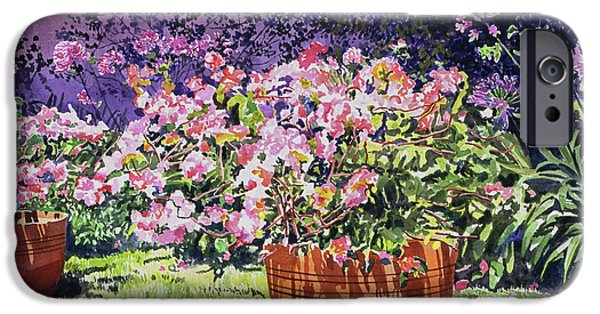 Beverly Hills iPhone 6s Case -  Bougainvillea Flower Pots Beverly Hills by David Lloyd Glover