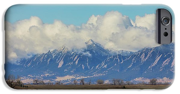 IPhone 6s Case featuring the photograph Boulder Colorado Front Range Cloud Pile On by James BO Insogna