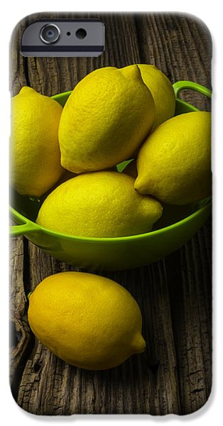 Bowl Of Lemons IPhone 6s Case by Garry Gay