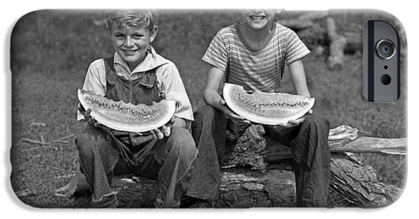 Boys Eating Watermelons, C.1940s IPhone 6s Case by H. Armstrong Roberts/ClassicStock
