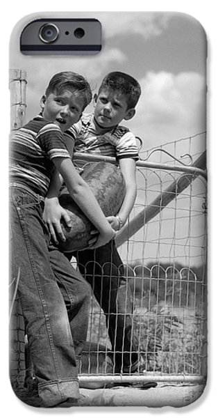 Boys Stealing A Watermelon, C.1950s IPhone 6s Case by H. Armstrong Roberts/ClassicStock