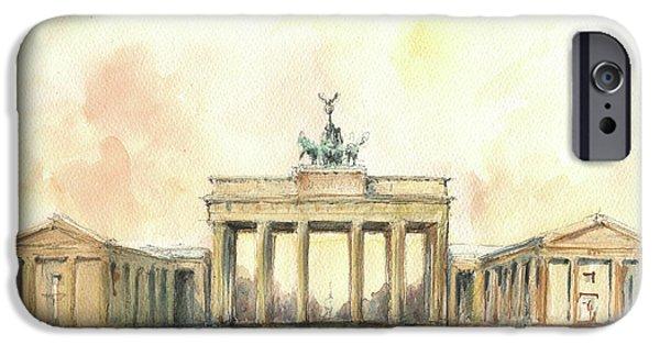Berlin iPhone 6s Case - Brandenburger Tor, Berlin by Juan Bosco