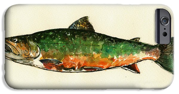 Brook Trout IPhone 6s Case by Juan  Bosco