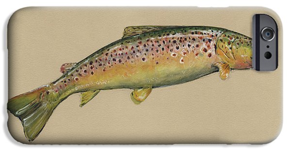 Brown Trout Jumping IPhone 6s Case by Juan Bosco