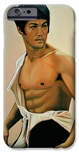 Bruce Lee Painting IPhone 6s Case by Paul Meijering