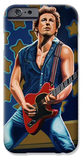 Bruce Springsteen The Boss Painting IPhone 6s Case by Paul Meijering