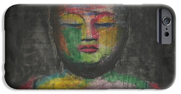 Yoga iPhone 6s Case - Buddha Encaustic Painting by Edward Fielding