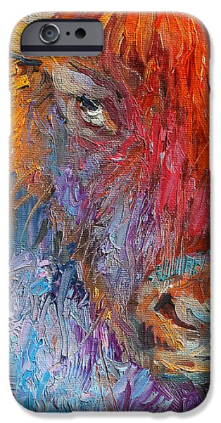 Buffalo Bison Wild Life Oil Painting Print IPhone 6s Case